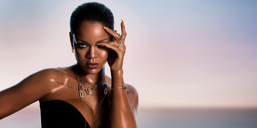 Rihanna models her new line with Chopard