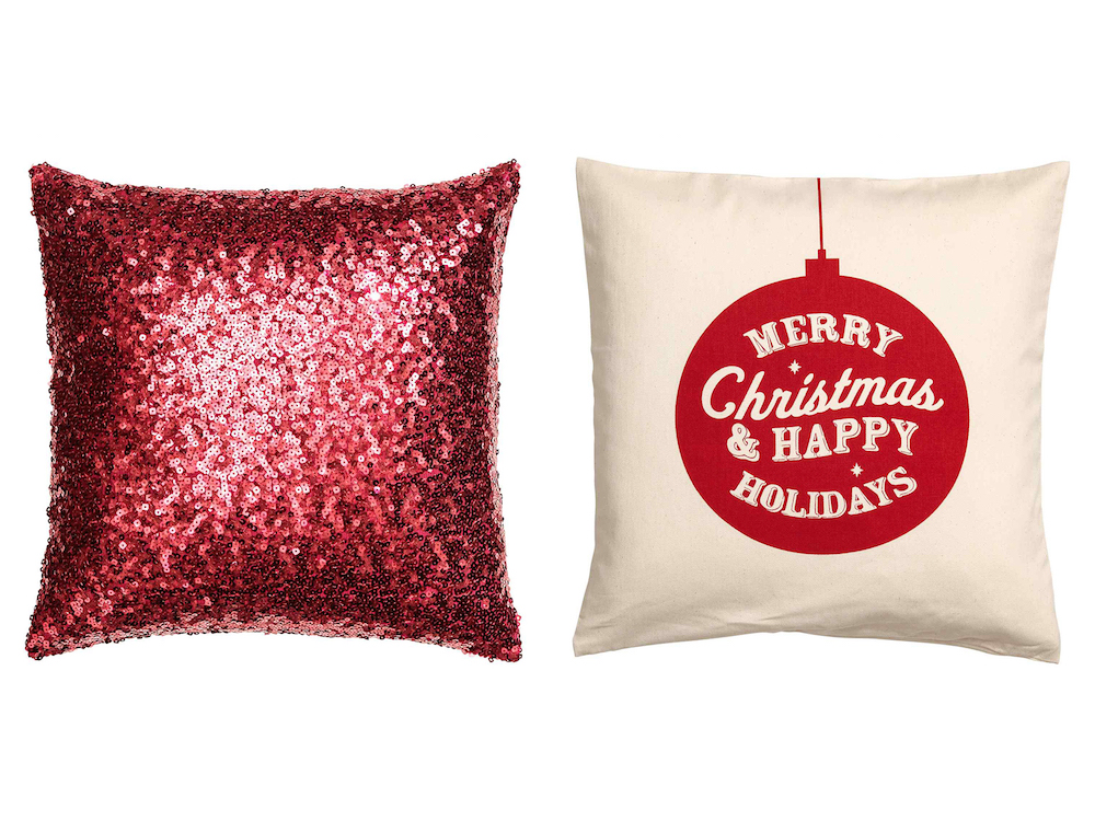 Throw pillows are an easy way to get in the festive spirit