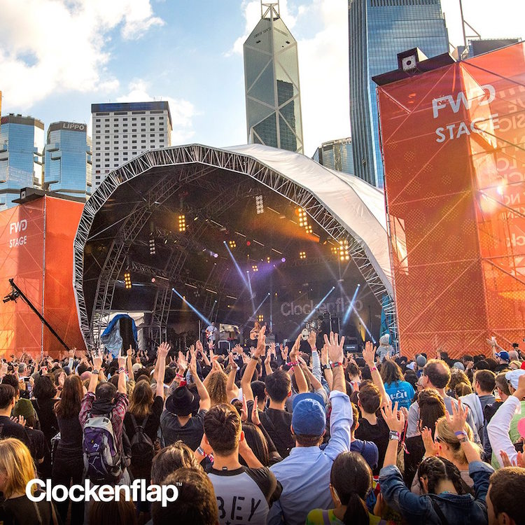Festivalgoers at Clockenflap