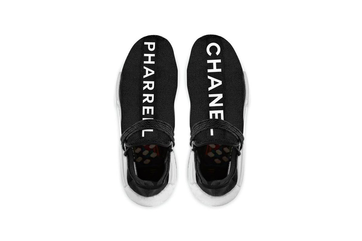 Pharrell's Chanel Adidas NMDs feature the words