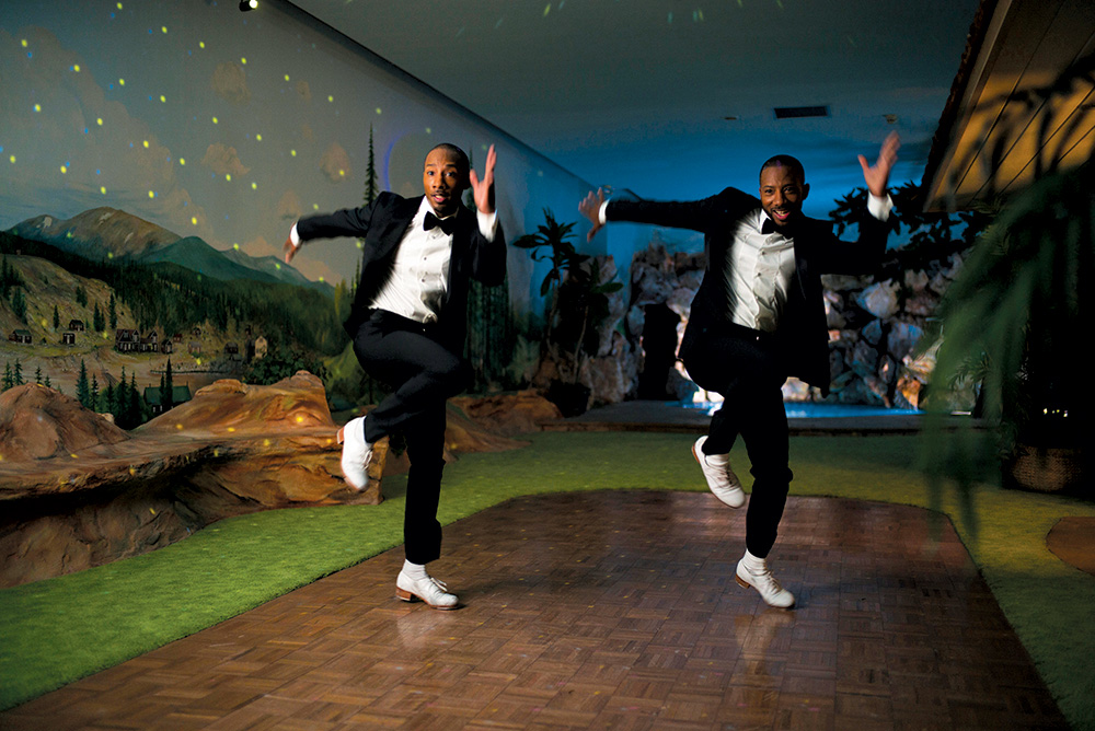 Tap-dancing twins Sean and John Scott (Photo by Brigitte Lacombe)