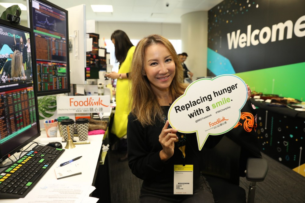 Coco Lee acting as Foodlink's ambassador during the Bloomberg event.