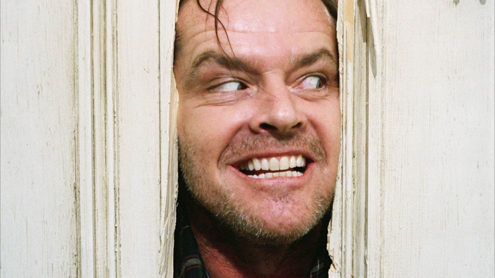 Jack Nicholson in a scene of The Shining, 1980.