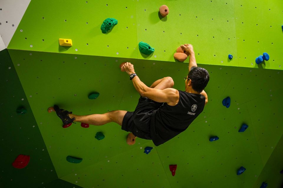 Work up your appetite with a bit of indoor rock climbing