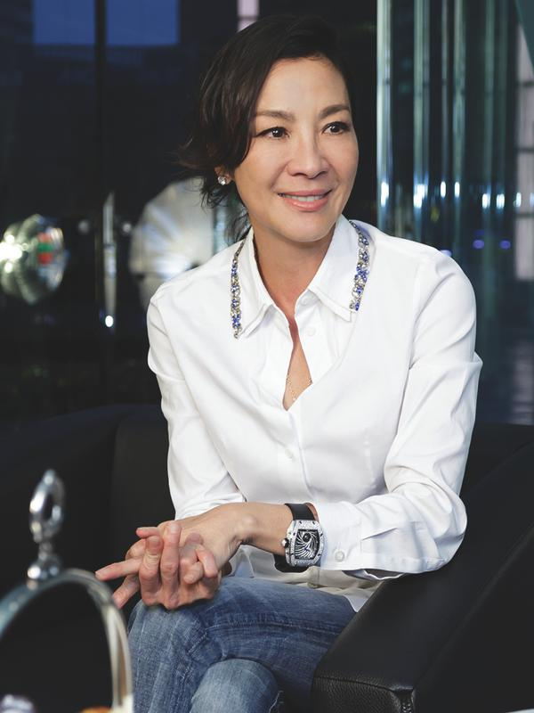 Michelle Yeoh wears the RM 51-02 Diamond Twister