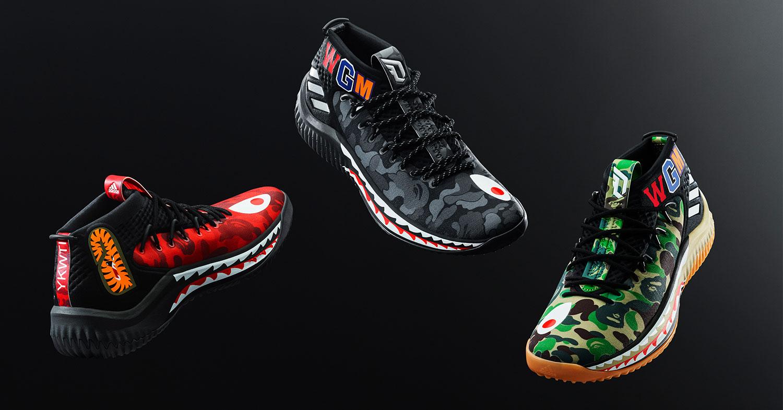 wholesale dealer 0ea78 78367 Adidas is releasing a BAPE Dame 4 sneaker collection - Hasht