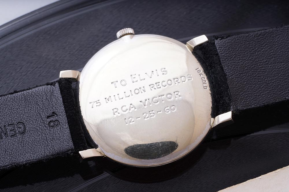The engraved caseback