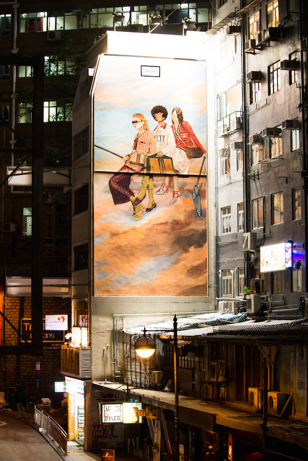 The Gucci Art Wall in Lan Kwai Fong (photo: courtesy of Gucci)
