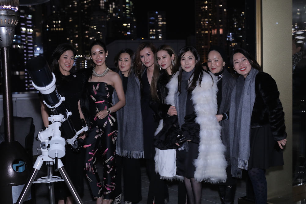 From left: Sabrina Fung Lam, Yen Kuok, Antonia Li, Colleen Yu- Fung, Eleanor Lam, Ming Ho-Tang, Reina Chau, Crystal Lai at the launch party