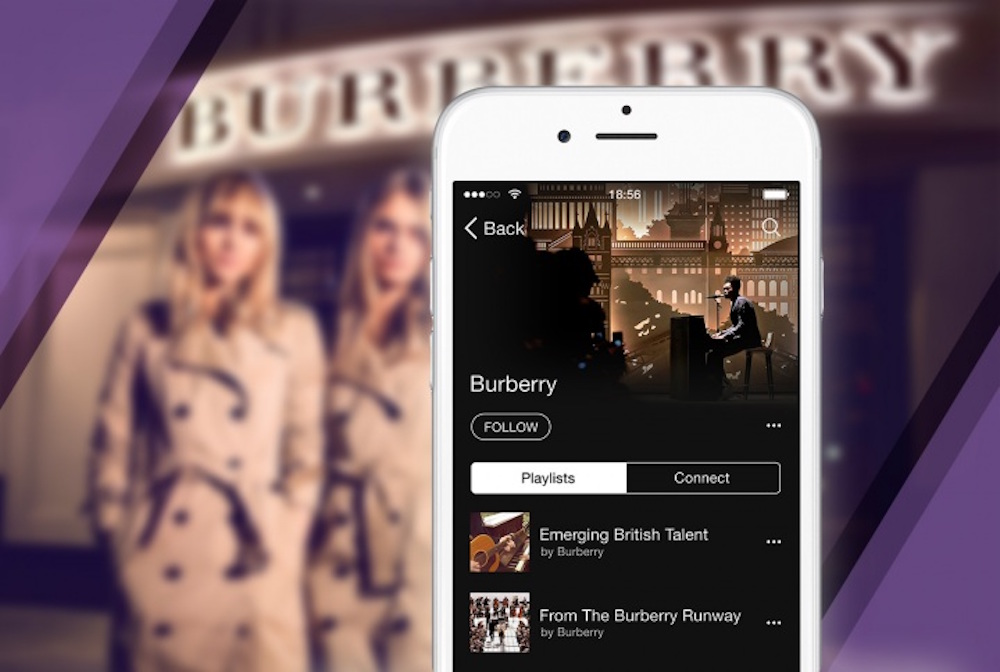 Burberry was the first fashion brand to become a curator on Apple Music