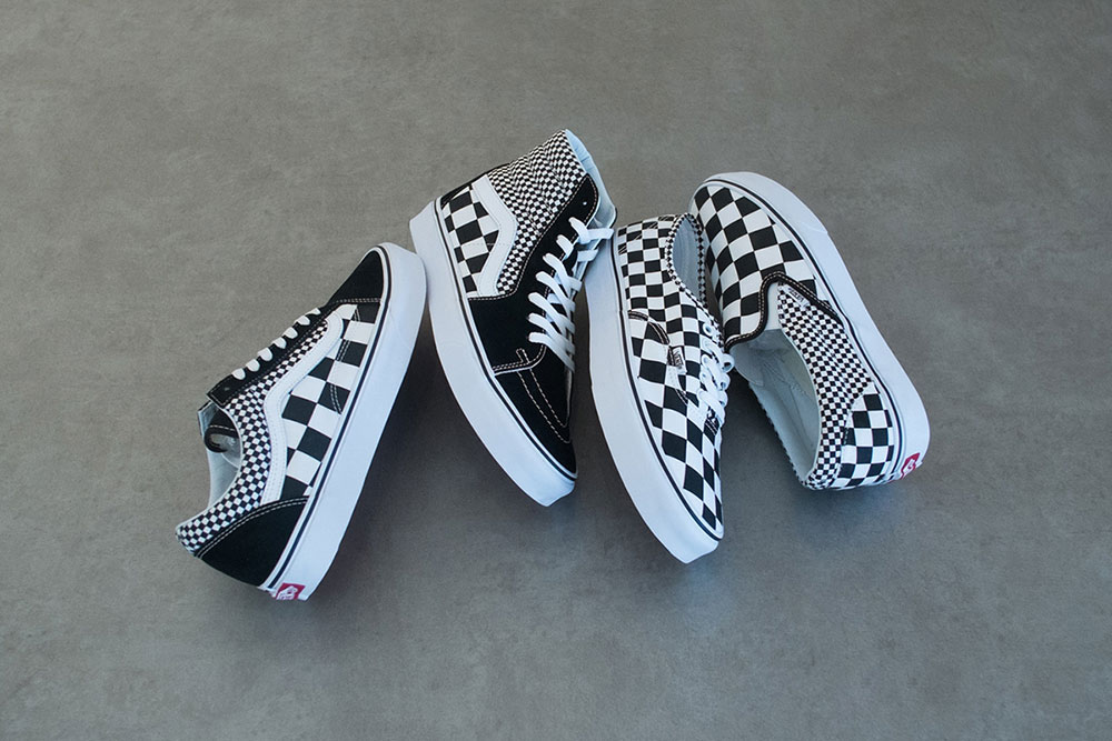 Available in four classic Vans styles