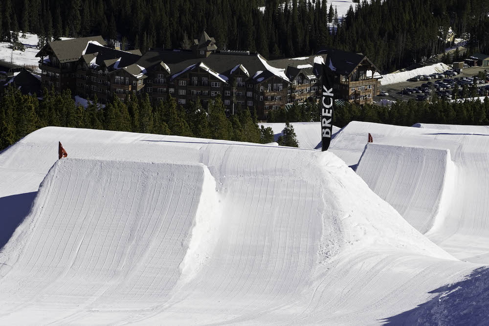 One of Breckenridge's five snowboard parks
