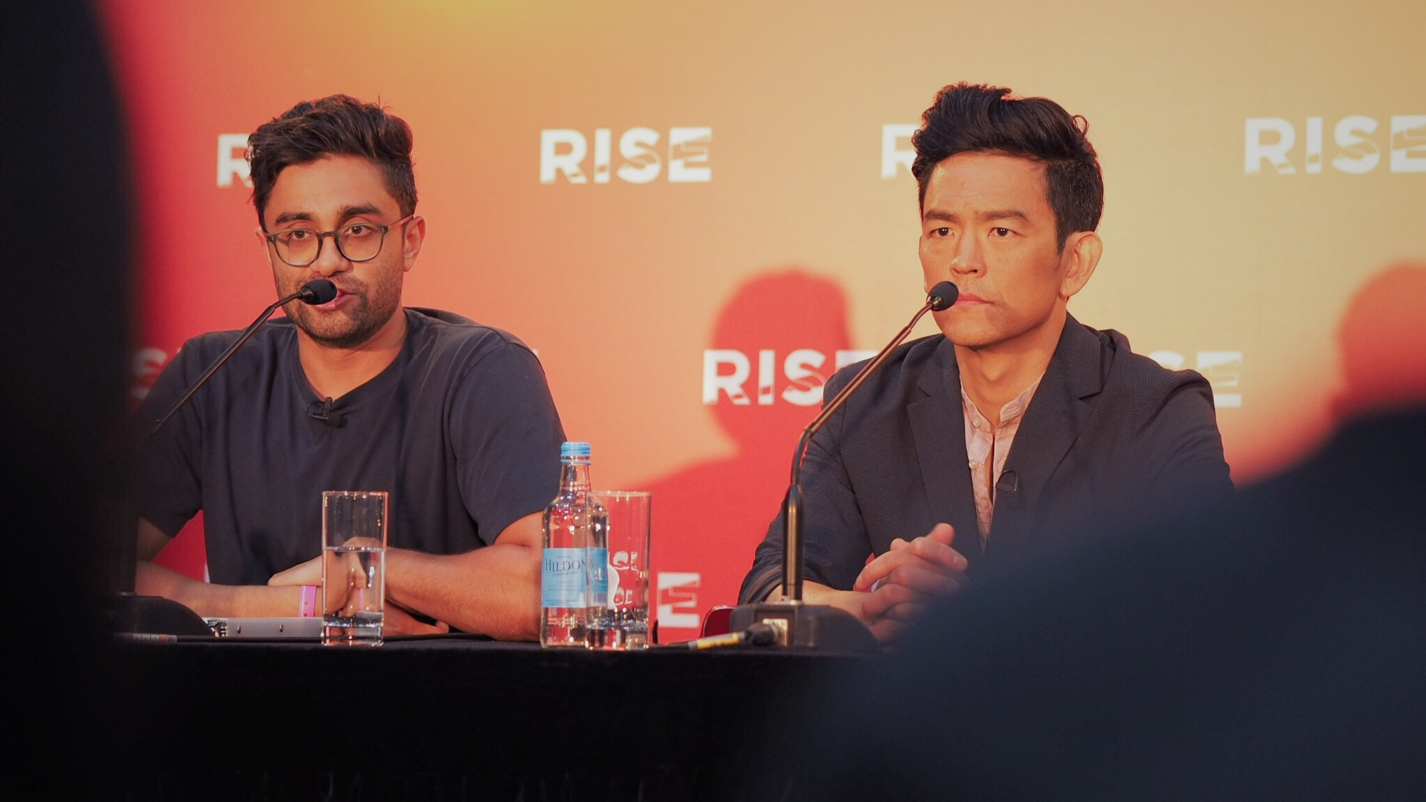 Aneesh Chaganty and John Cho at RISE 2018