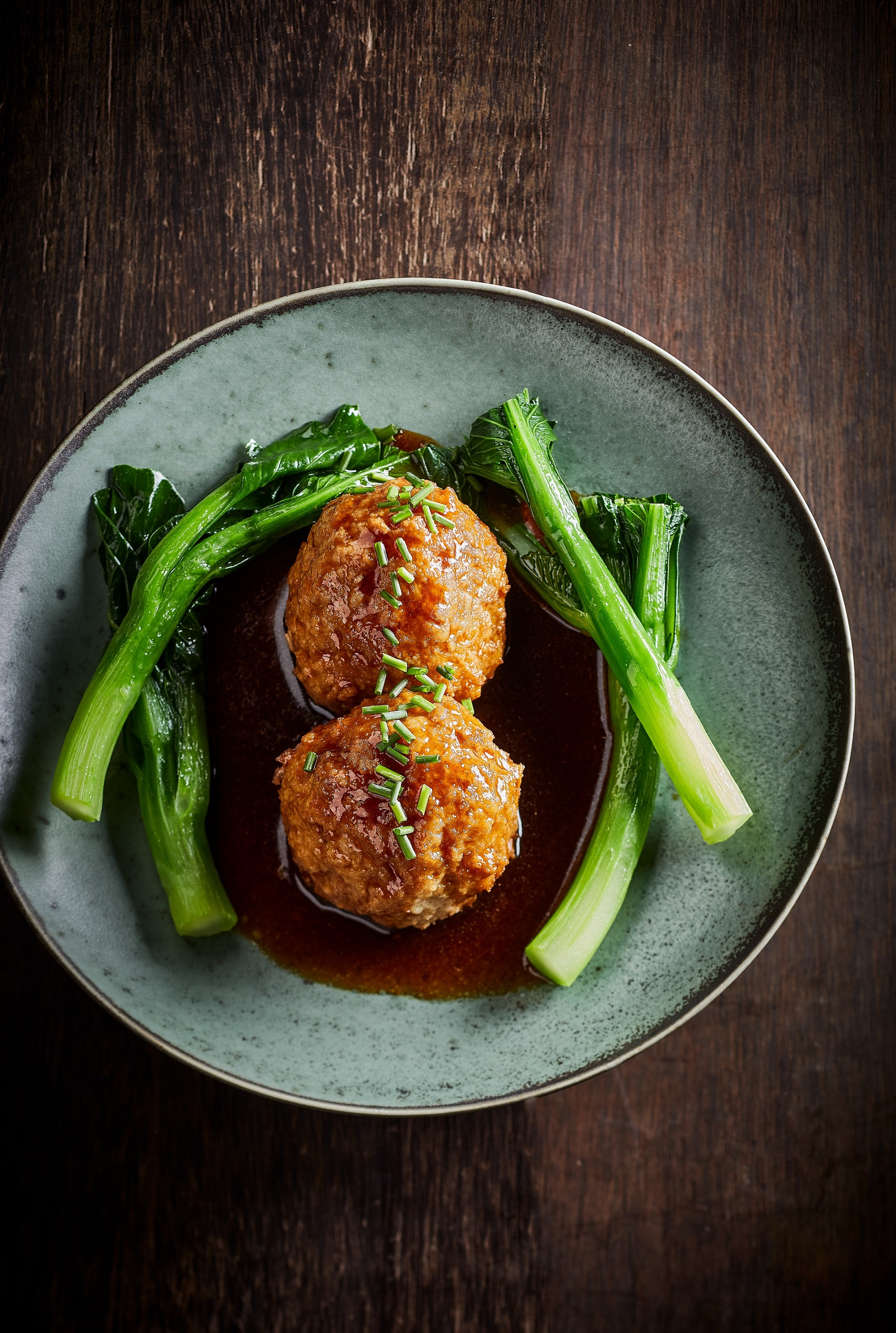 Red-Braised Lion's Head Hand-Minced Organic Pork Meatball