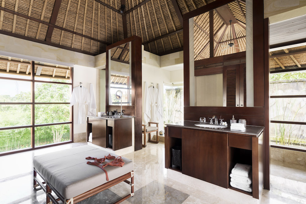A Balinese suite overlooking the rainforest