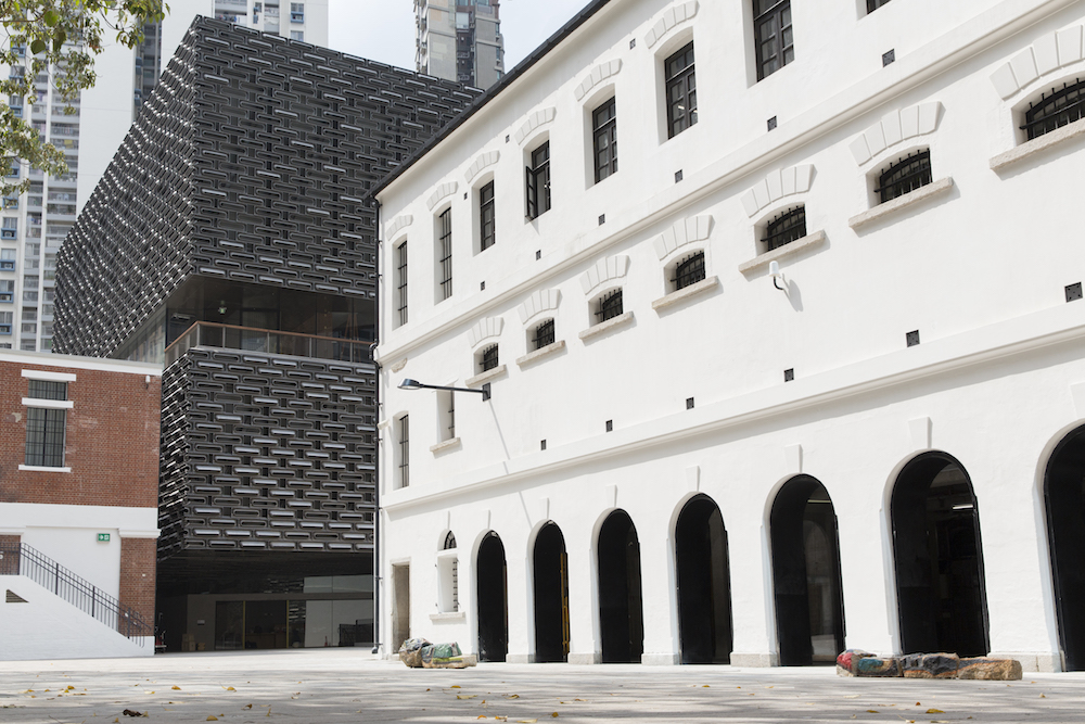 The prison yard, one of the two major outdoor spaces at Tai Kwun