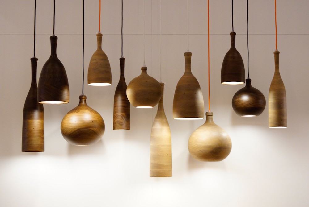 Three Wise Men pendant lights made from wood panels