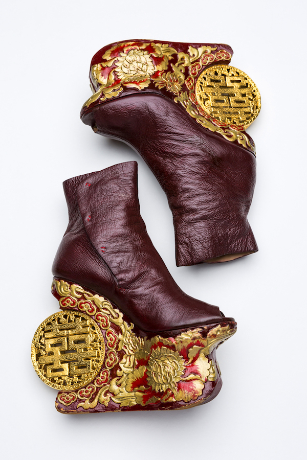 An extremely ornate pair of Guo Pei-designed heels