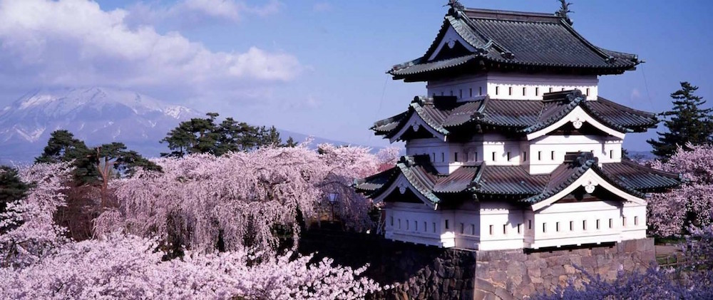 Hirosaki Castle and its park are among the most popular and romantic places to see sakura in Japan