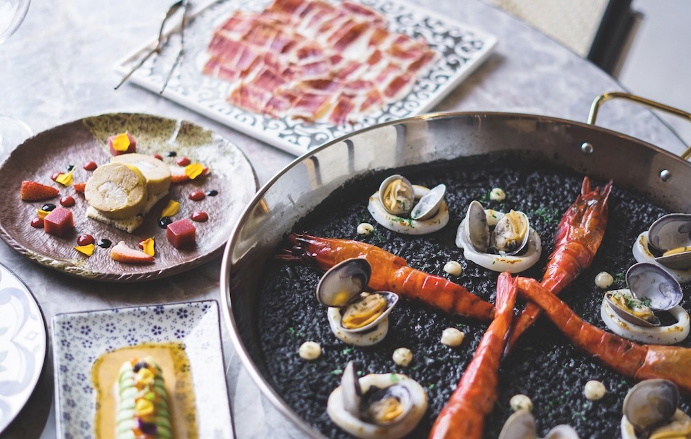 Squid ink seafood paella at the newly opened La Rambla by Catalunya (photo: La Rambla by Catalunya)