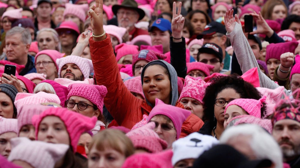 Millions of women marched all over the world in 2017 to stand up against sexual harassment and to advocate for equal rights (picture: Reuters)