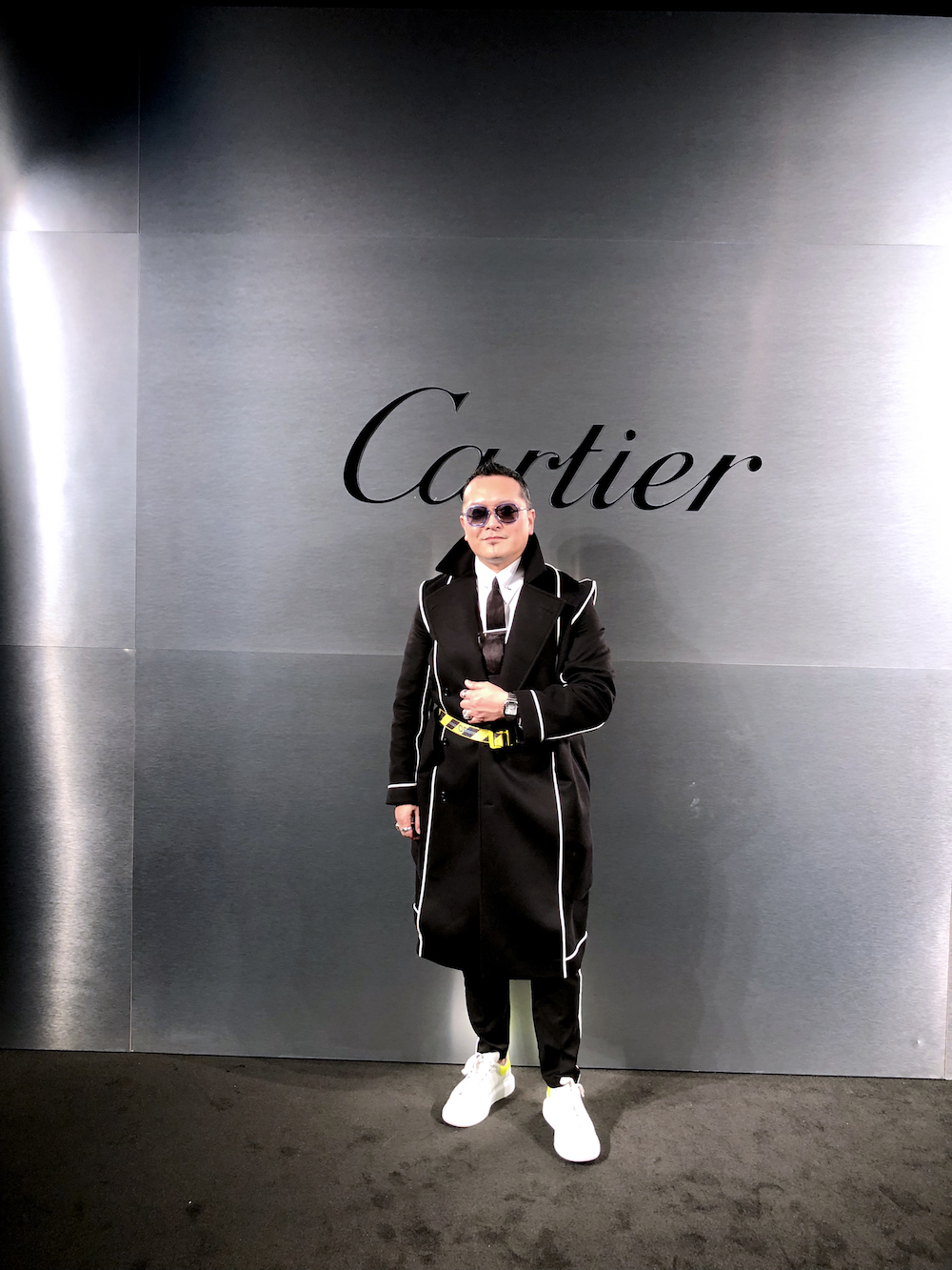 Gordon Lam dons Cartier's new Santos watch and gets ready for the big Bold and Fearless party in San Francisco