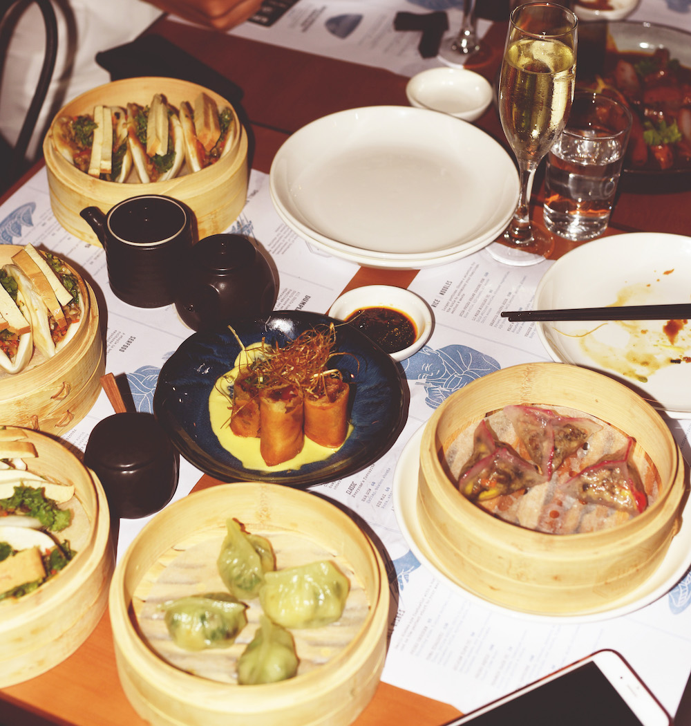 More-ish dim sum featuring Peruvian ingredients start off the meal (Photo: Keefe Tiu)