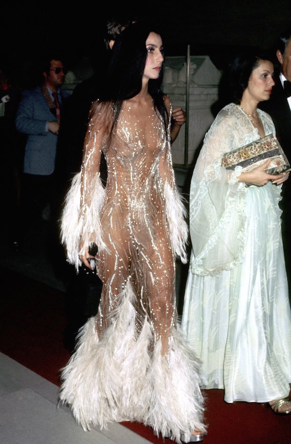 Singer Cher at the 1974 ceremony