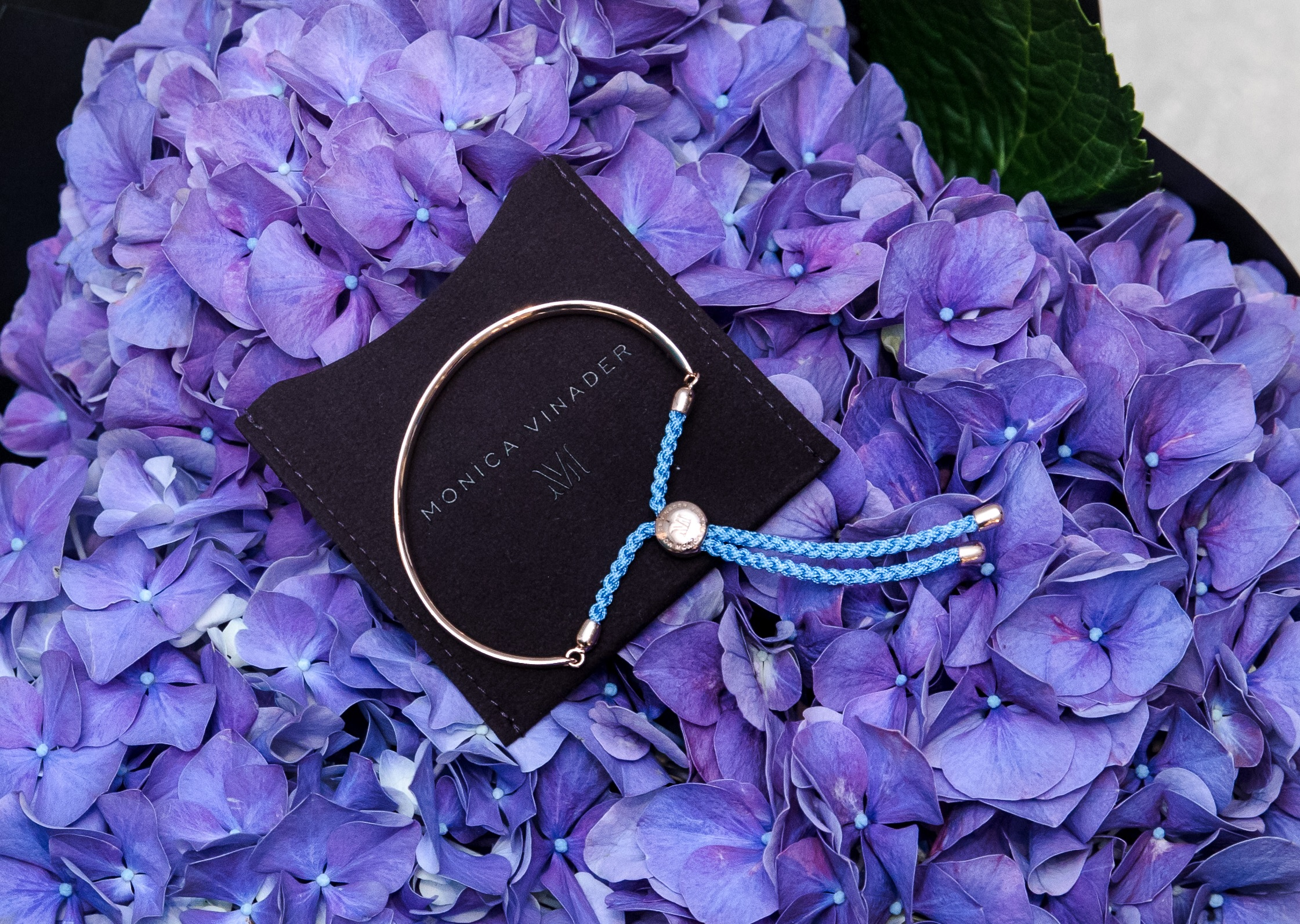 Hydrangeas and jewellery are the perfect combination