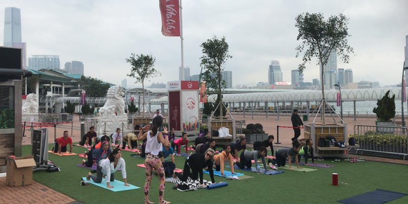 Join The Yoga Room and AIA at the Central Harbourfront