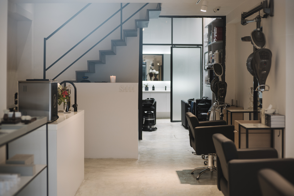 SHHH Salon in the heart of Shueng Wan is an urban retreat that focuses on hair wellbeing