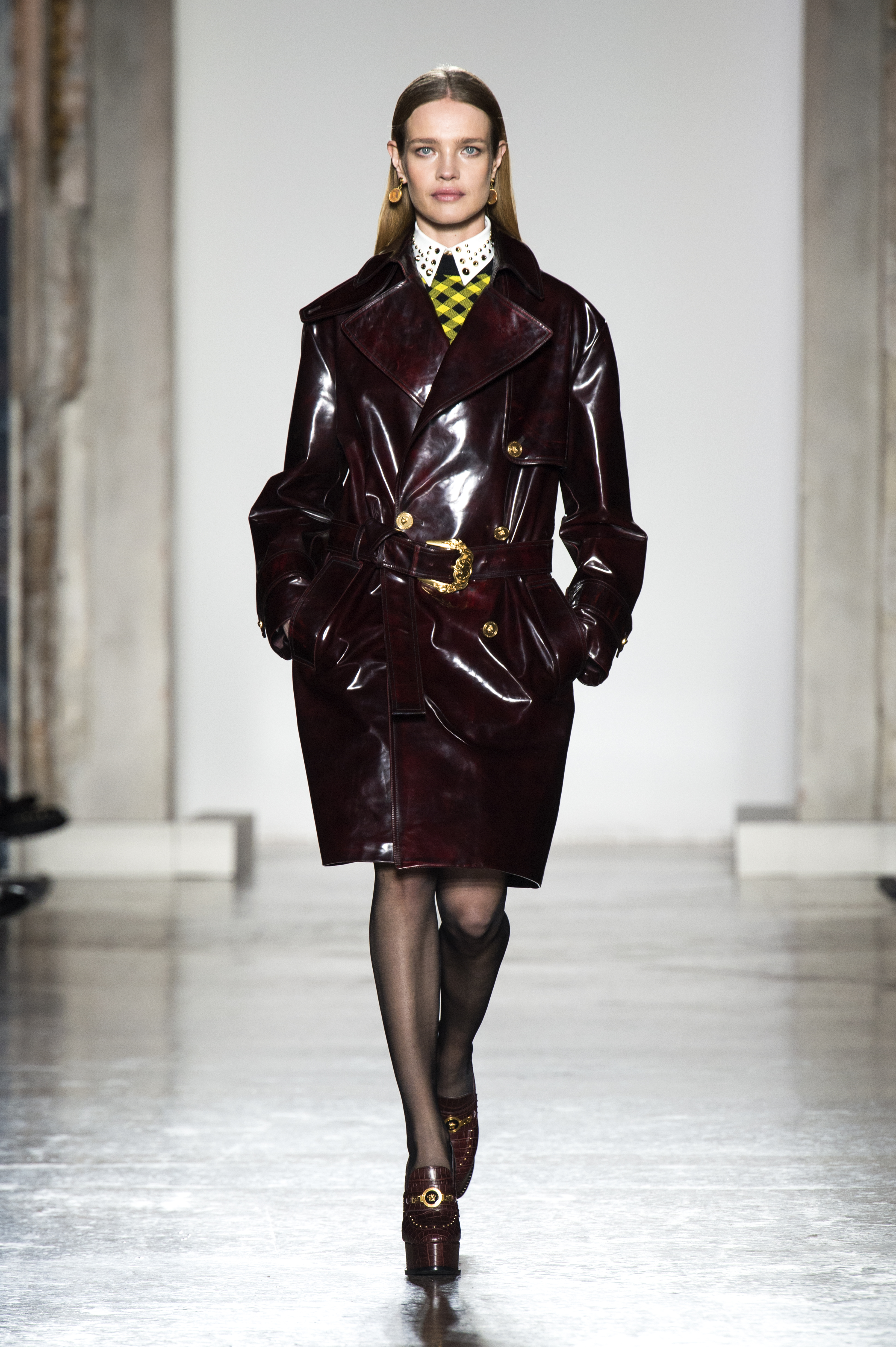 Versace's knee-length coat