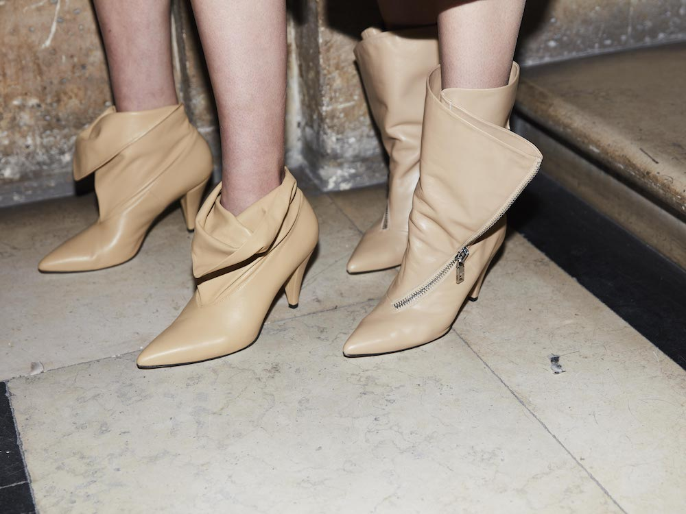 Givenchy's neutral lambskin boots