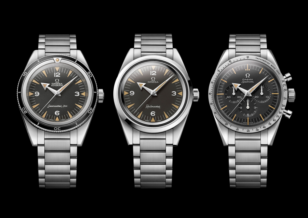 The Railmaster 60th Anniversary Limited Edition trio by Omega