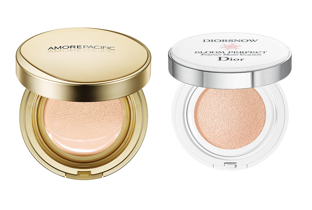Anti-Ageing Colour Control Cushion from Amorepacific, Diorsnow Bloom Perfect Moist Cushion Compact from Dior