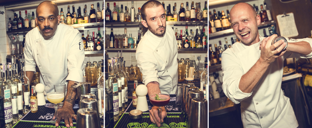 The men behind the bar: Jameel Frith, Sean Marino and Zbigniew