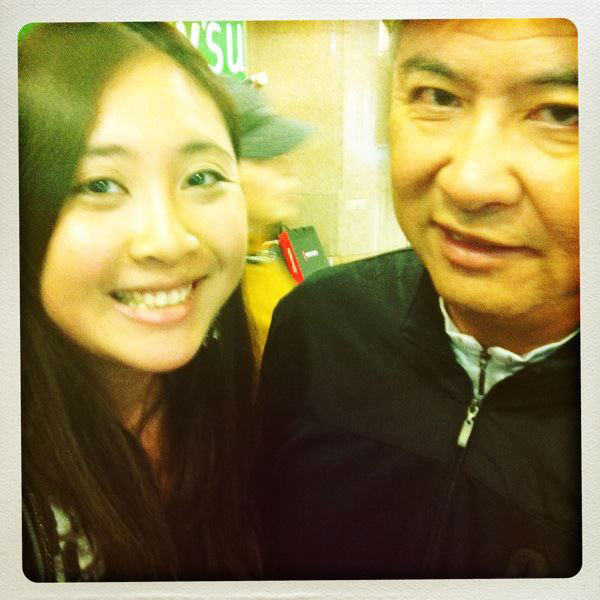 Stephanie and her foodie father, George Ip