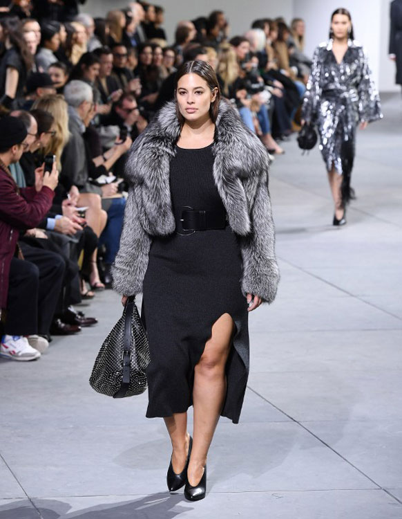 Ashley Graham walks for Michael Kors (photo c/o AFP)