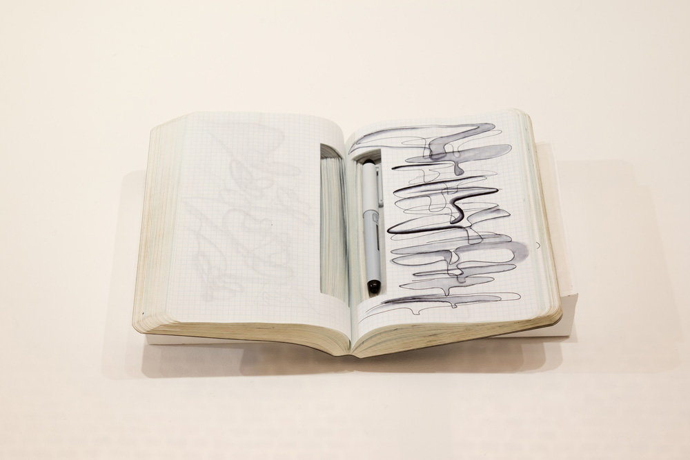 One of Hadid's notebooks (photo by Luke Hayes)
