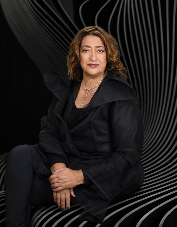 A portrait of Hadid (photo by Mary McCartney)