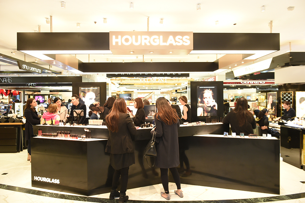 Hourglass cosmetics counter at Lane Crawford in Hong Kong's Times Square