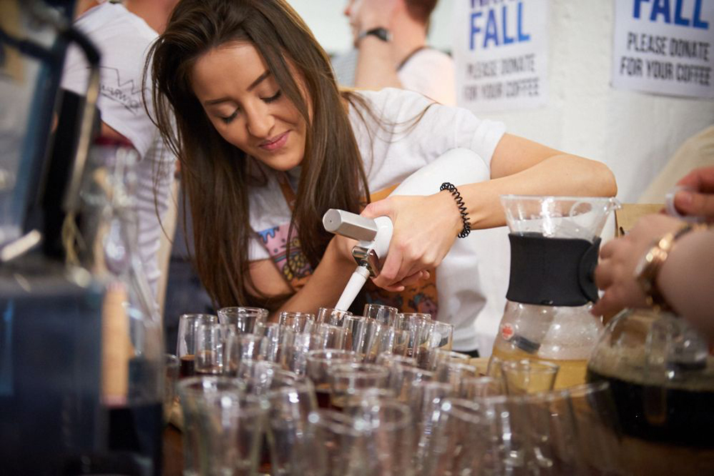 Preparing samples at the 2016 London Coffee Festival (photo c/o London Coffee Festival)
