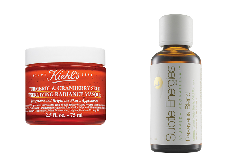 Turmeric and Cranberry Seed Energizing Radiance Masque from Kiehl's, Ramayana Detox Body Blend from Subtle Energies at Joyce Beauty