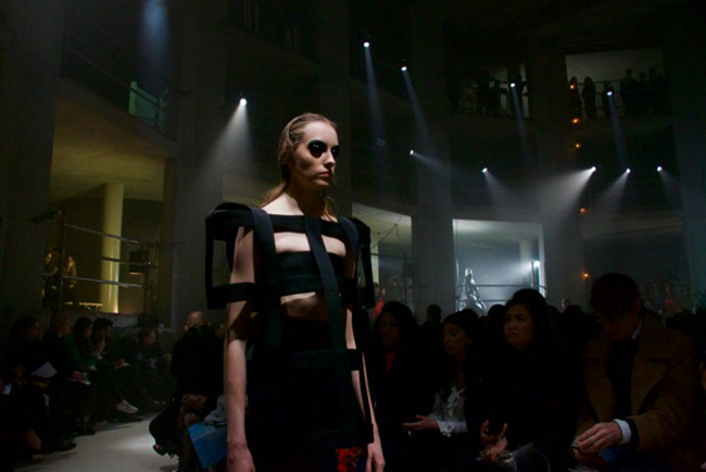 A dramatic piece from Gareth Pugh's mostly black collection