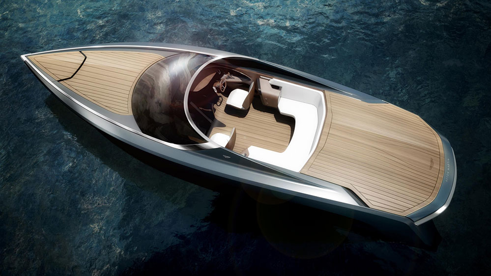 Aston Martin showcases powerboat design in Milan (Credit: Aston Martin Lagonda Ltd)