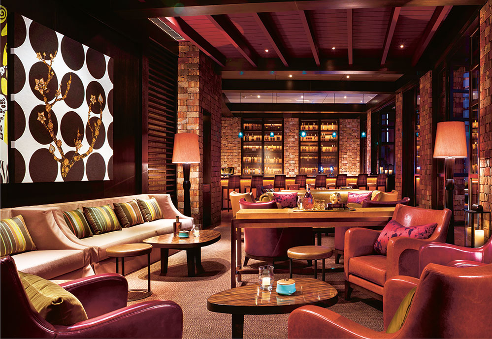 The interior of Mei at Rosewood Beijing