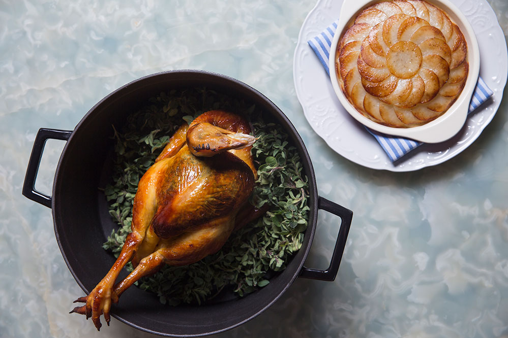Whole roasted chicken for two at Belon
