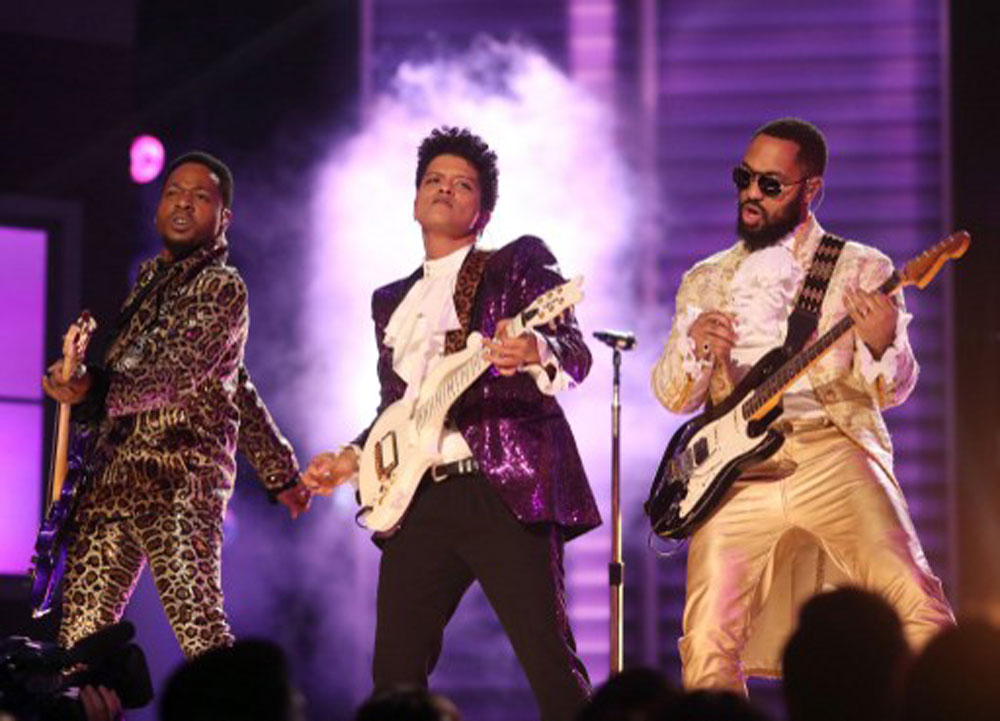 Bruno Mars as Prince (photo c/o AFP)