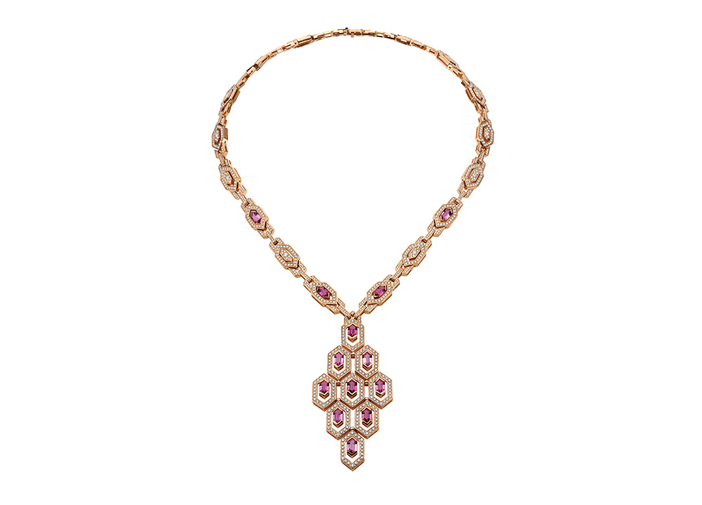 A glimmering necklace from the collection
