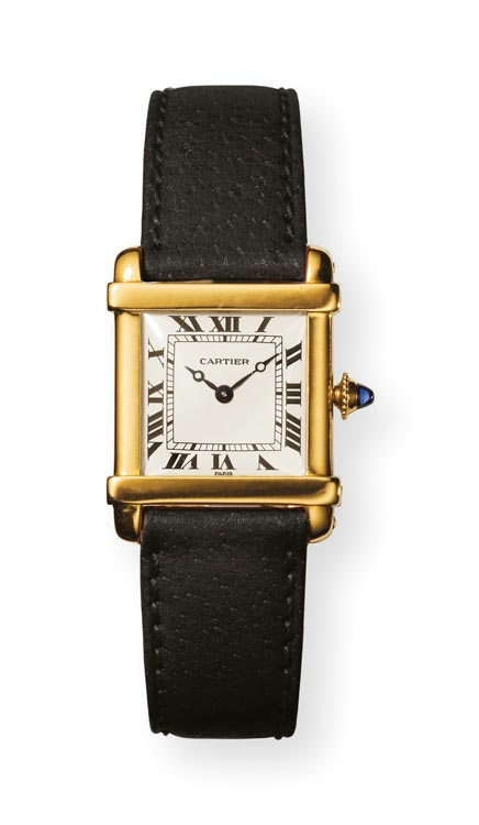 Tank Chinoise wristwatch. N Walsh, Cartier collection (Courtesy of Cartier)